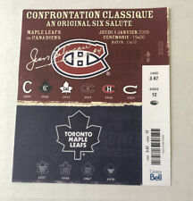 JEAN BELIVEAU PERSONAL TICKET STUB SIGNED CENTENNIAL RARE LODGE LOA MTL vs TOR 1
