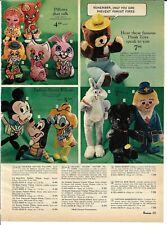 1969 Christmas Catalog page only Talking Smokey the Bear Donald Duck Goofy Bozo
