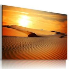 DESERT SUNSET AFRICA View Canvas Wall Art Picture L515 MATAGA NO FRAME-ROLLED