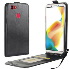 Black Leather Flip Card wallet Case Cover for OPPO A73  + FREE Stylus