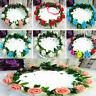 Handmade Floral Crown Bride Rose Flower Headband Hair Garland Wedding Headpiece