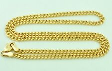 18k solid yellow gold flat curb link chain necklace 6.80 grams 18 inches #6839