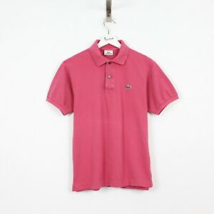 M54 Vtg Lacoste Polo Mens Pink Short Sleeve Cotton Shirt Size 3 S