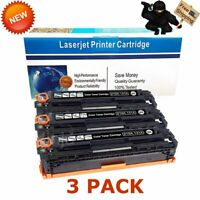 3PK CF210A Black Toner for HP 131A LaserJet Pro 200 Color M251 M251nw MFP M276nw