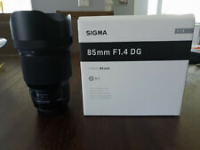 Sigma Art 85mm F/1.4 HSM DG Lens For Canon (essentially BNIB w/ filter)