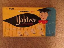 VINTAGE 1961 YAHTZEE GAME NO. 950-100% COMPLETE-VERY NICE CONDITION!