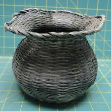"Decorative Small Vintage Wicker Basket, 5"" Height"