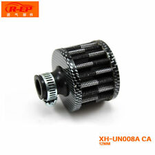 12mm Carbon Round Mini Oil Air Intake Crankcase Vent Valve Cover Breather Filter