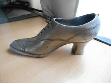 Small Antique/Vintage Pewter Shoe Pin Cushion -  No Cushion.