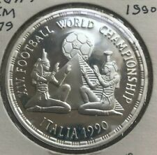 1990 Egypt 5 Pounds Silver Proof - Soccer Pyramid