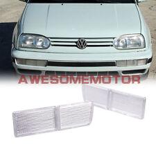 2xBumper Fog Light Reflector Cover Clear Lens For 93-98 VW Golf Jetta Cabrio AM