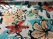 LARGE FLORAL PRINTED VISCOSE WOVEN FABRIC : 150CM WIDE : PRICE PER 1/2 METRE :