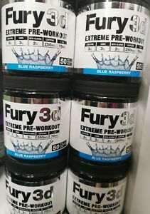 Fury 3D Extreme Pre-Workout Blue Ras - Free Delivery - 30 Serving pre workout
