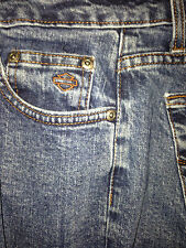 **Women's 12P BOOT CUT JEANS HARLEY DAVIDSON MOTORCYCLES AUTHENTIC STRAIGHT LEG