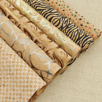 A4 Vintage Soft Cork Fabric Sheet Star Zebra Synthetic Leather DIY Sewing Craft