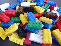 LEGO 25 BASIC STEINE 2 x 4 hoch Bausteine Grundbausteine bunt 3001 Kg Konvolut