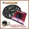 "14 "" Aeroline Kühler elektrisch 120W 12V Kühlerlüfter + Thermostat klassisch"