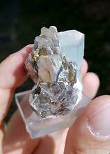 Acquamarina e Muscovite, cristalli (Aquamarine, mineral specimen)