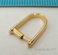 1x REAL 18K GOLD plated over STERLING SILVER PENDANT BAIL PINCH CLASP G053