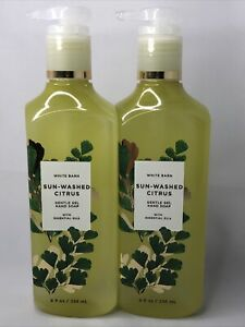 2x NEW Bath & Body Works 2 Bottles of Sun-Washed Citrus Gentle Gel Hand Soap