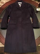 J Crew Womens Luxurious Wool & Cashmere Regent Topcoat Navy Blue Sz 4