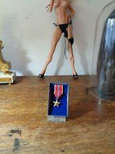 Original Vietnam War Us Army Bronze Star Medal Miniature in Box 1963
