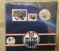 EDMONTON OILERS 2014 NHL 25 Cent Color Coin and Stamp Set #1408 Copper-nickel