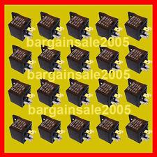 Auto relay 12V 30A DC SPDT car alarm audio 20pcs 5pins
