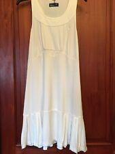 Womens Dress UK 16 FRED PERRY White Pleat Panel Hemline (B27)