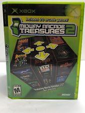 Midway Arcade Treasures 2 (Microsoft Xbox, 2004) Case Disc Manual