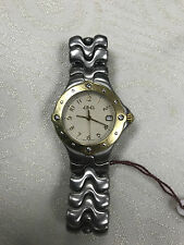 a849 Vintage Ebel Swiss Elegant Golden Tone Stainless Women Classic Watch 1950s