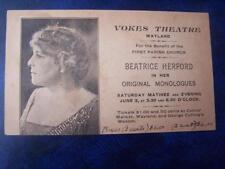 Vokes Theatre Wayland - Music Hall Theatrical History Radio Film