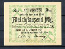 Herne - Vereinigte Kaufmannschaft Herne - 50 Tausend Mark
