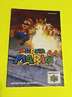 🔥 SUPER MARIO GAME - N64 Instruction Booklet Manual Book Original Nintendo 64