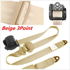 3Point Car Seat Safety Belt Extender Extension Buckle Shoulder Seatbelt  Beige