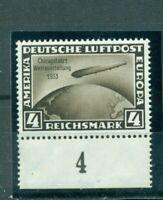 Deutsches Reich, Zeppelin über Weltkugel Nr. 498, Falz *geprüft BPP