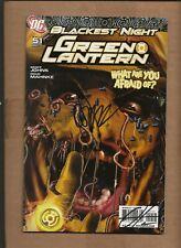 GREEN LANTERN  #51  VARIANT DUAL SIGNED GREG HORN PETER TOMASI DC COMICS