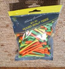 "Tommy Armour 2-3/4"" Mixed Colors Hardwood Golf Tees 75 Count **NEW**"