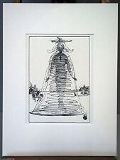 SALVADOR DALI -El angel Gabriel. Montada en paspartu de 30x40 cm..Año 1949