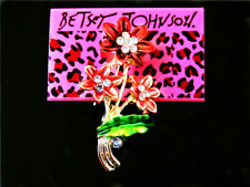 flower Charm Woman Brooch Pin Betsey Johnson Enamel Lovely beautiful crystal