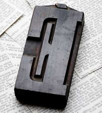 "letter: É superb wood type 4.92"" woodtype font letterpress printing block"