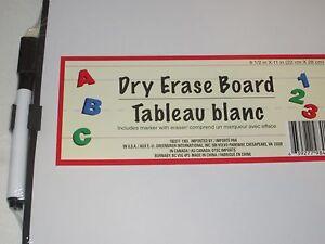 Dry Erase Board - w/Marker Eraser & Magnetic Strips to Attach Fridge Locker Work
