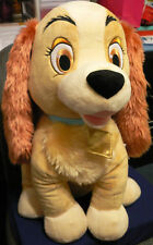 "LADY~Large 21"" PLUSH DOG~Lady and the TRAMP~NWT~Disney Store Exclusive Patch"