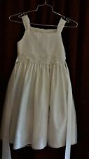 GIRL DRESS Gorgeous Whiite Size 10 Wedding Baptism Church Lace Sequins Pearls