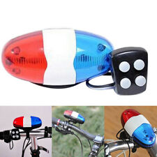 Bike Bicycle 4 Sounds Police Siren Trumpet Horn Bell 6 LED Rear Light G6A