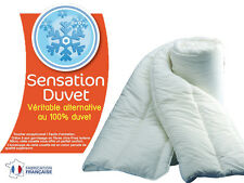 COUETTE SENSATION DUVET 500gr/m². VERITABLE ALTERNATIVE AU 100% DUVET 240x260