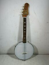 Vintage 1950's 60's TN Nomura Tin Toy Tenor Guitar Banjo Japan Needs Work