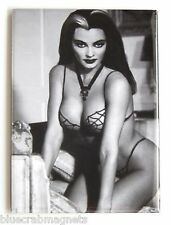 Lily Munster FRIDGE MAGNET (2.5 x 3.5 inches) the munsters spider web bikini