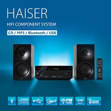 HAISER ® HSR 118 Kompakt HiFi System Bluetooth USB CD MP3 Radio Fernbedienung