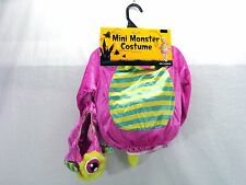 Halloween Infant Size 6-12 Months Pink Mini Monster Costume with Hood